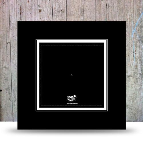 cadre noir pour disque vinyle rock on wall. Black Bedroom Furniture Sets. Home Design Ideas