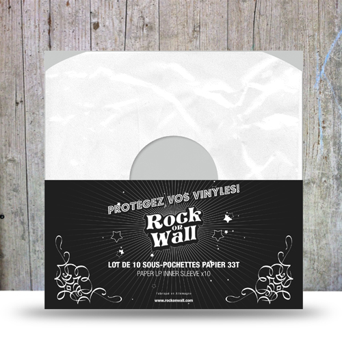 Sous-pochettes papier pour disque vinyle 33T