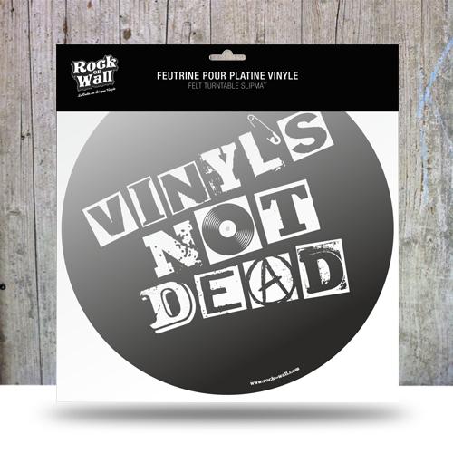 Feutrine Not Dead platine vinyle
