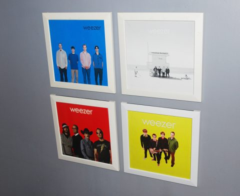 Serie-Disque-Vinyle-Weezer-Rock-on-Wall