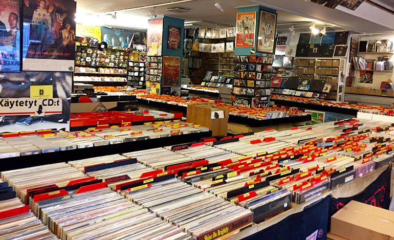 disque vinyle helsinki finland shop levykauppa keltainen